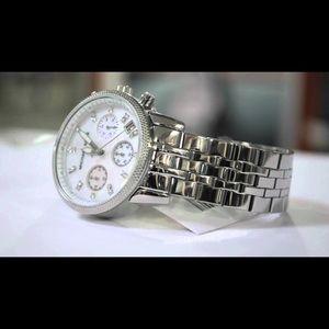 15fb4fab8efc Michael Kors Accessories - Michael Kors Women s Ritz Silver-Tone Watch  MK5020