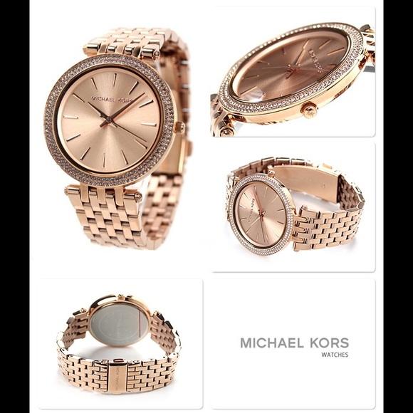 04210317cf41 Michael Kors Darci Rose Gold-Tone Watch MK3192 NEW
