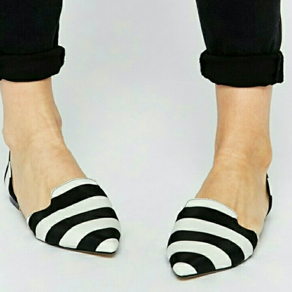 Asos Black And White Striped Ballet