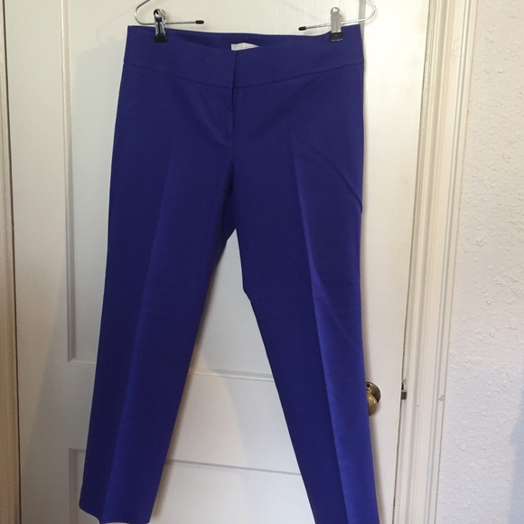 59% off LOFT Pants - Ann Taylor loft royal blue capris from ...