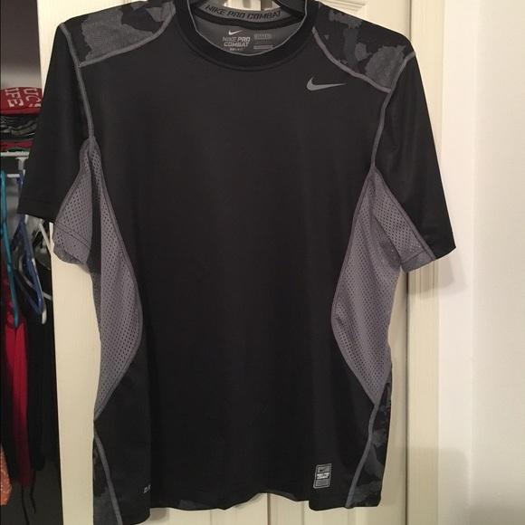 def3fccc Nike Shirts | Mens Black And Gray Pro Combat Tshirt | Poshmark