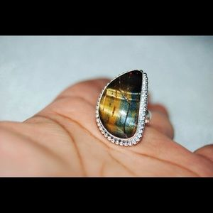 Tiger Eye Statement Ring Size 8