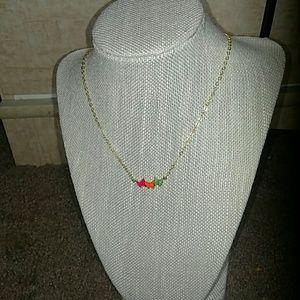 Jessica Elliot Jewelry - Neon Butterfly Necklace
