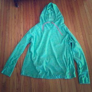 Neon hoodie lukka XL sea foam green EUC