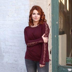 Tops - Lace detail shirt