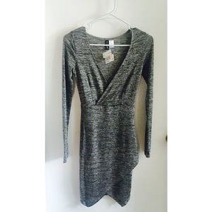 Gray Asymmetrical BodyCon Dress BNWT*💕