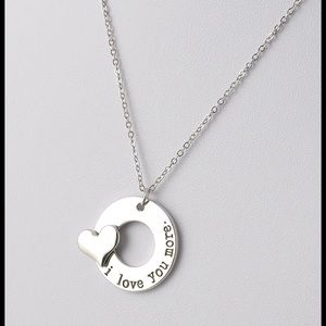 Jewelry - ⚡️SALE⚡️ I love you more Necklace