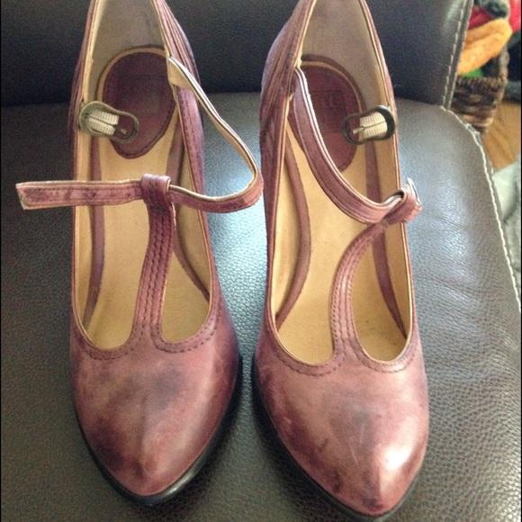 fcc47375bdf3 Frye Shoes - Frye Betty T-strap Heels