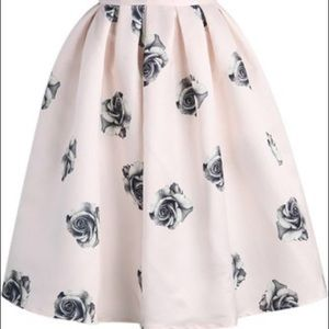 Dresses & Skirts - Pink Rose Midi Skirt