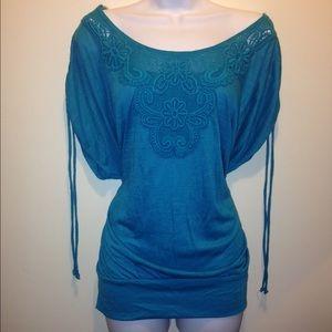Alyx Tops - ⚜Lowest Price Alyx (JCP) Crochet Front Top Plus
