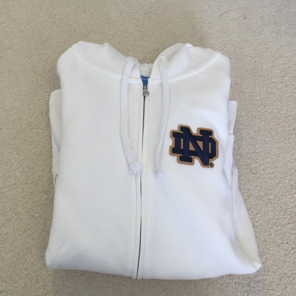 0393bb8eb5acb Champion Tops - White Notre Dame Sweatshirt