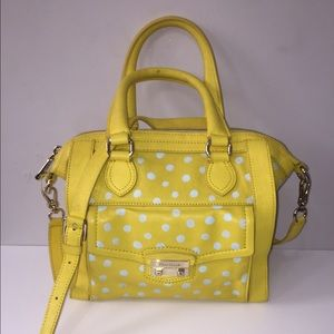 Cole Haan yellow/blue polka dot satchel