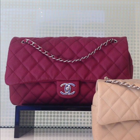 2ccabf4d2551 Chanel easy flap jumbo pink