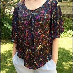 Jack by BB Dakota Tops - Colorful Butterfly Sleeve Blouse