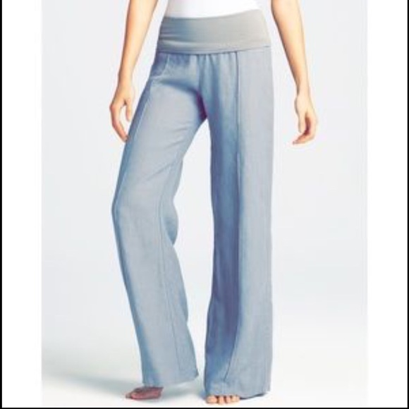 54% off Just Living Pants - Just Living Fold Over Wide Leg White ...