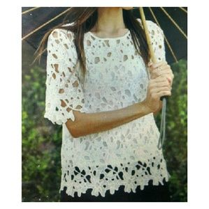 Relished Tops - FINAL White Lace Top