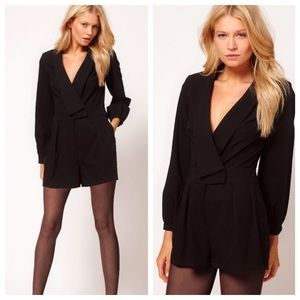 ASOS Pants - Asos Black Long Sleeve Romper