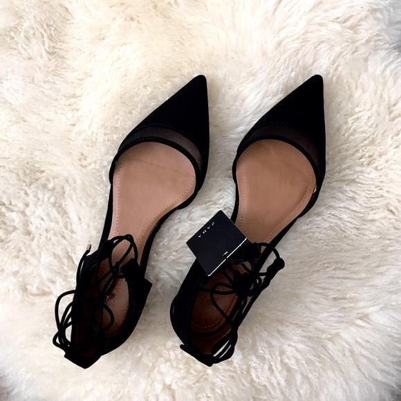 3bb345ccc60 ️Zara d orsay flats black