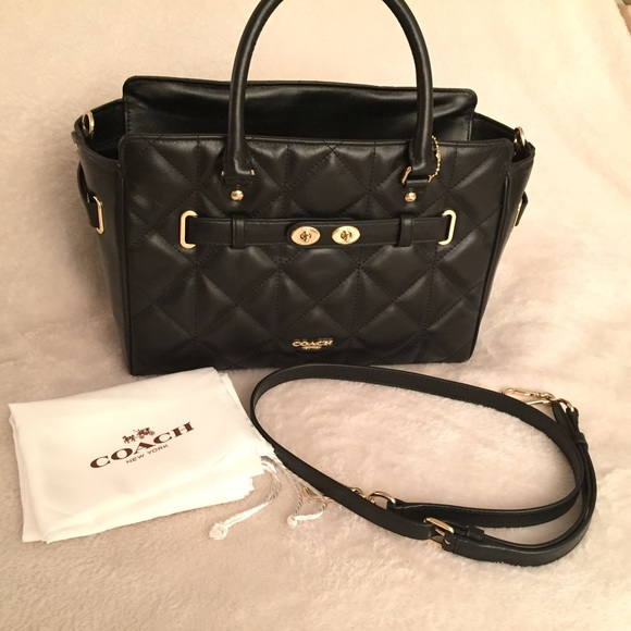 ed63bc5516 ... Coach Bags - Coach Quilted Leather Blake Carryall Handbag Black Coach  Black Canyon Quilt Chelsea ...
