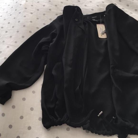 7e313c2aa Black chiffon bomber jacket NWT