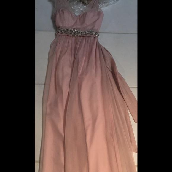 Hitherto Dresses | Soft Pink Gown Rhinestone Accent Belt | Poshmark