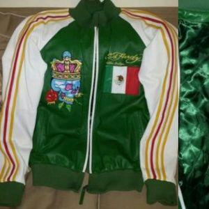 Aunthentic Ed hardy Leather jacket