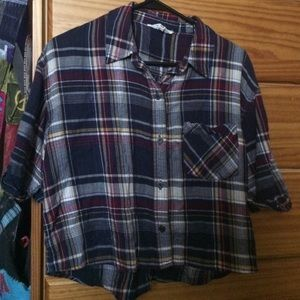 crop top flannel/ over thing