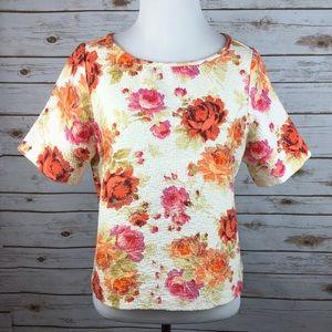 Zara Tops - [Zara] Roses Graphic Top Cropped Summer Boho Chic