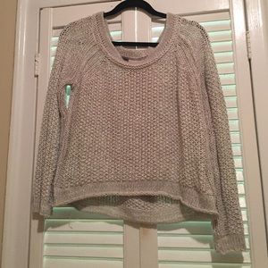 Free people- grey slouchy sweater size S