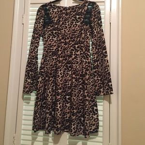 Target- leopard fit and flare dress size S