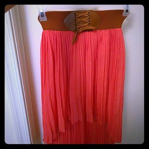 Dresses & Skirts - High Low Coral Skirt