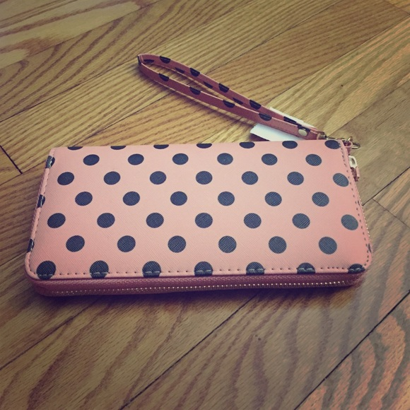 newcoral polka dots wallet os from busras closet on