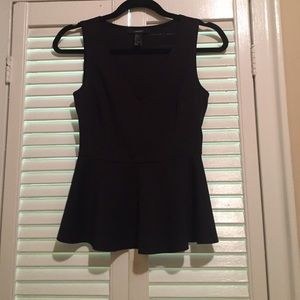 Forever 21- peplum top size S