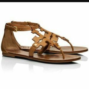 a7ae52d71 Tory Burch Shoes - Tory Burch Tan Phoebe Gladiator Flat Thong Sandal