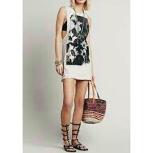 Free People Tops - Free People Blank Canvas Graphic Tunic Top