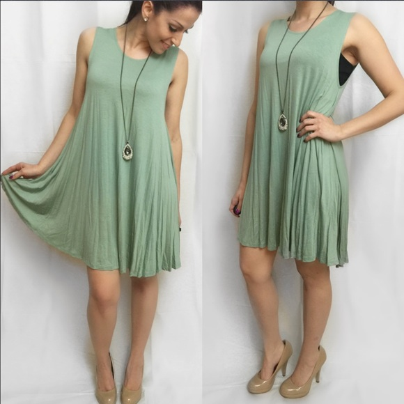 ValMarie Boutique Dresses & Skirts - 🎉SALE $25🎉LAST ONE SIZE M-Sage Flowy Swing Dress