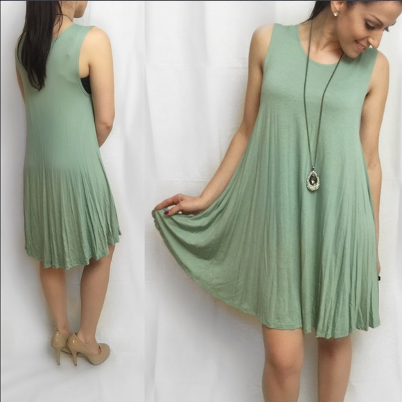 ValMarie Boutique Dresses - 🎉SALE $25🎉LAST ONE SIZE M-Sage Flowy Swing Dress