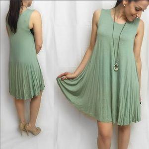 ValMarie Boutique Dresses - 🎉SALE $25🎉LAST ONE SIZE M-Sage Flowy Swing Dress