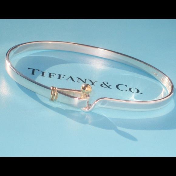 fea2218bb Tiffany & Co. Jewelry | Tiffany Co 18k Gold Hook Eye Bracelet | Poshmark