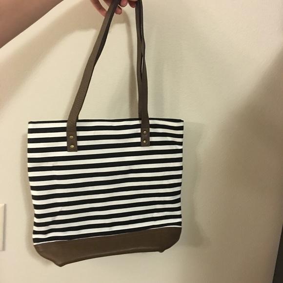 80 off etsy handbags tote bag genuine leather handle
