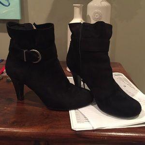 Laura Ashley Shoes - Black Short Boot Heels