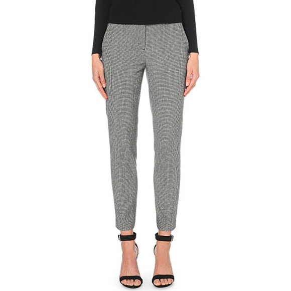 49% off Theory Pants - NWT THEORY Treeca CL Stretch Wool Plaid ...