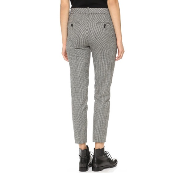 49% off Theory Pants - NWT THEORY Treeca CL Stretch Wool Plaid ...