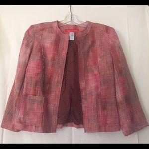 AK/Anne Klein Crop Blazer with 3/4 sleeves