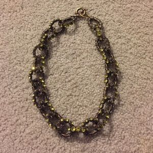 Green Crystal J.crew Link Necklace