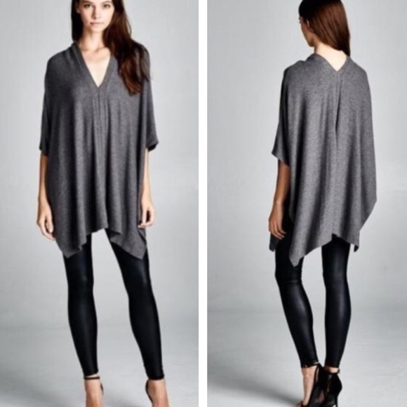 Citrus and Lavender Lane  Tops - The Alyssa Top in Charcoal