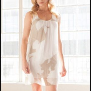 Silk water color trapeze dress