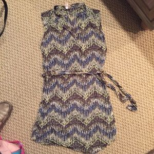 SALE!!! Sweet Pea Belted Shirt Dress Size Large