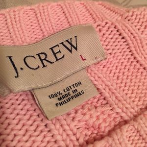 J. Crew Sweaters - J. CREW Classic Cable Knit Sweater Baby Pink