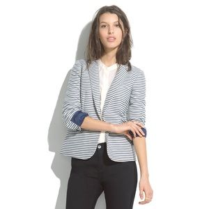 {madewell} tailored blazer in stripe